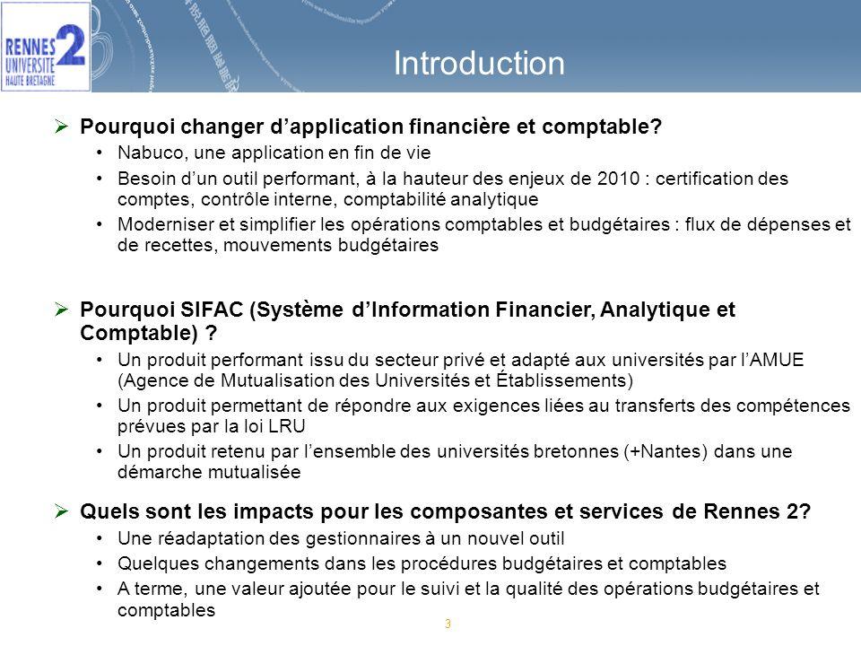 3 Introduction Pourquoi changer dapplication financière et comptable.