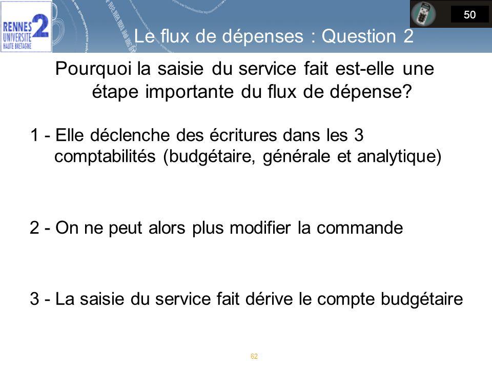 Pourquoi la saisie du service fait est-elle une étape importante du flux de dépense.