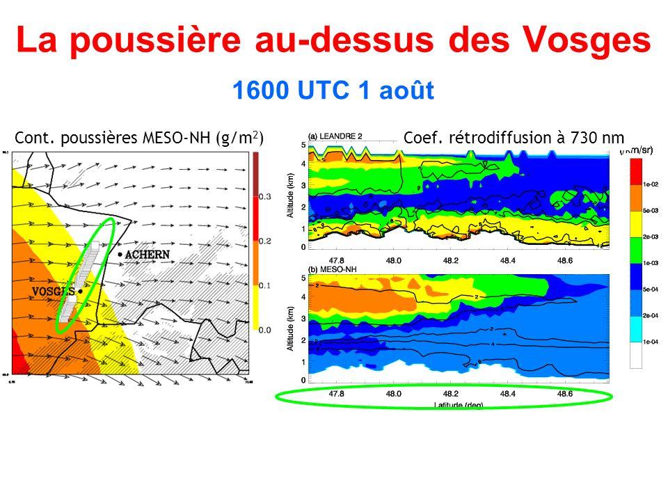 La poussière au-dessus des Vosges 1600 UTC 1 août Cont.