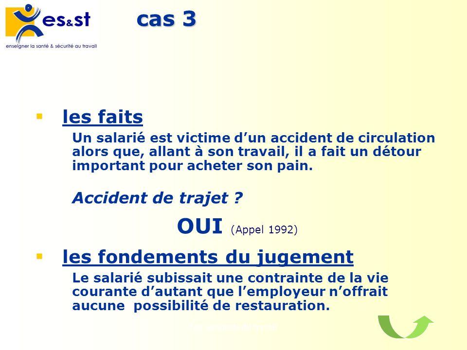 Les accidents du travail11 cas 3 les faits Un salarié est victime dun accident de circulation alors que, allant à son travail, il a fait un détour imp
