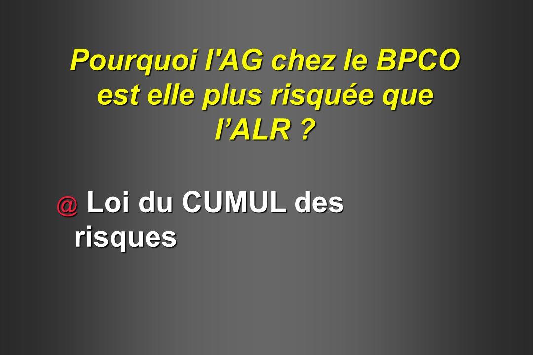 @ Loi du CUMUL des risques Pourquoi l'AG chez le BPCO est elle plus risquée que lALR ?