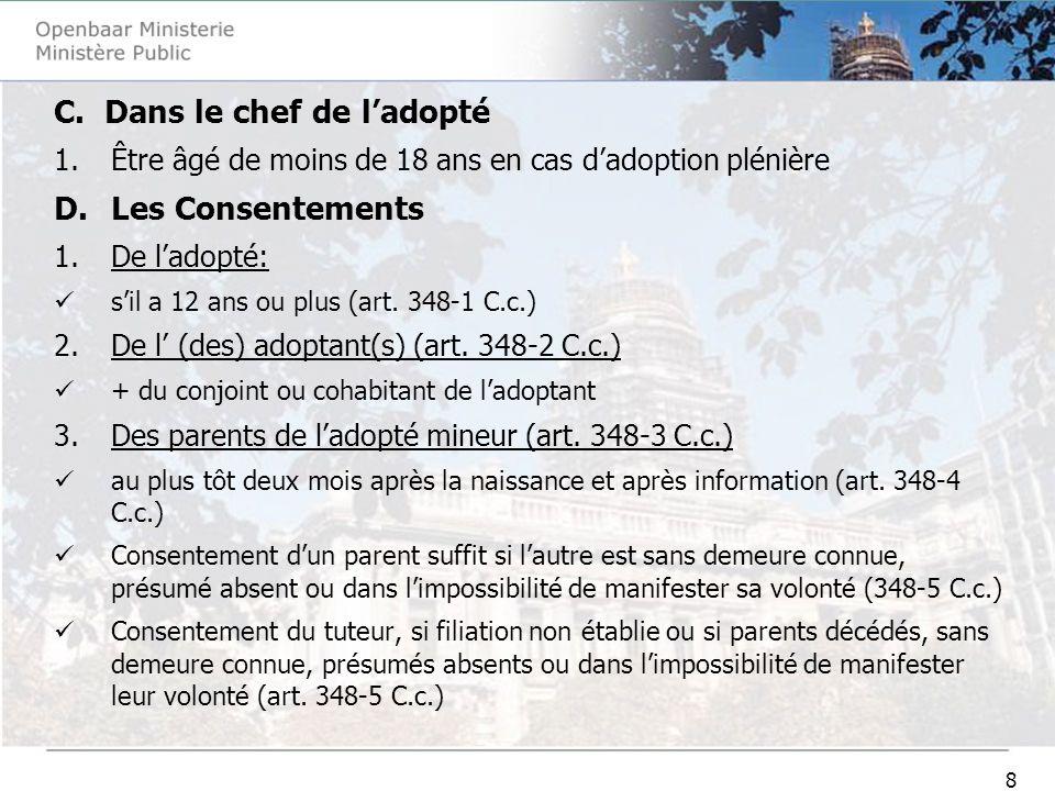 19 Enquête du ministère public (art.1231-5 C.j.).