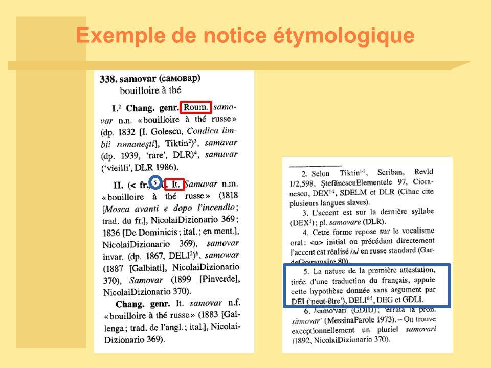 Exemple de notice étymologique