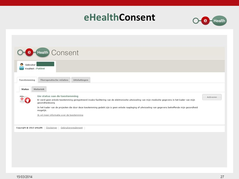 eHealthConsent 15/03/201427