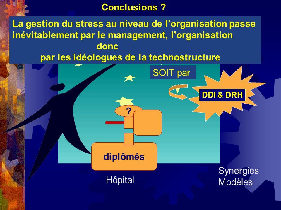 La gestion du stress au niveau de lorganisation passe inévitablement par le management, lorganisation donc par les idéologues de la technostructure Co