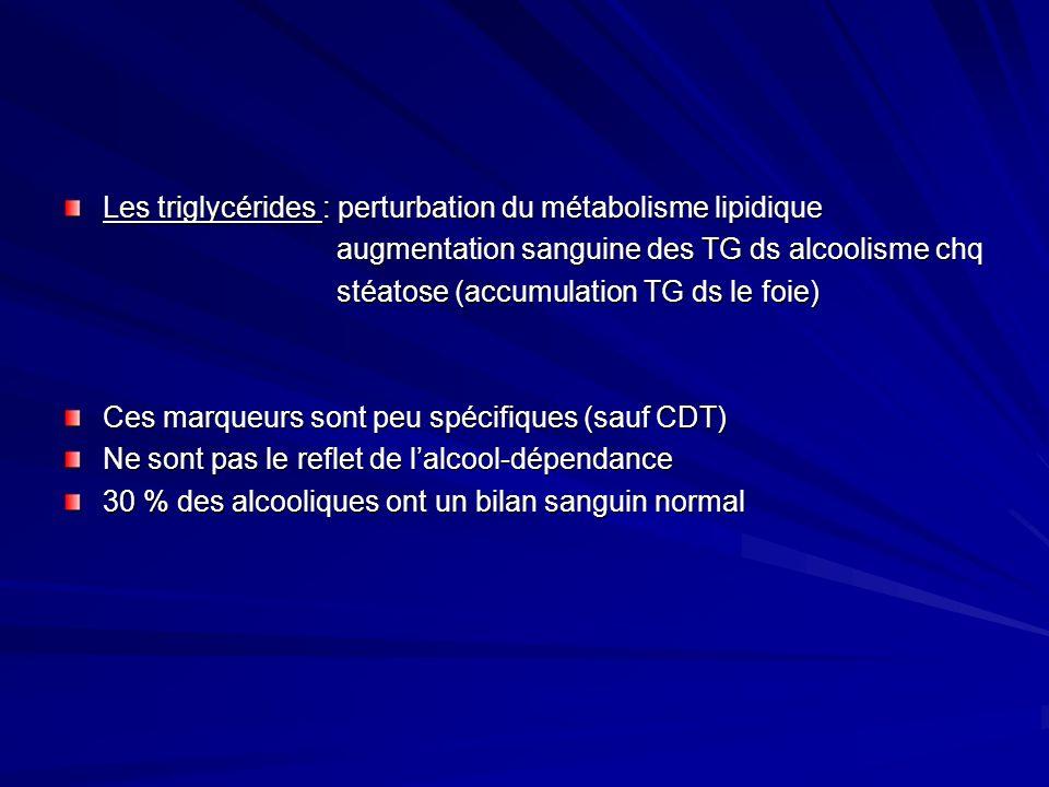 Les triglycérides : perturbation du métabolisme lipidique augmentation sanguine des TG ds alcoolisme chq augmentation sanguine des TG ds alcoolisme ch