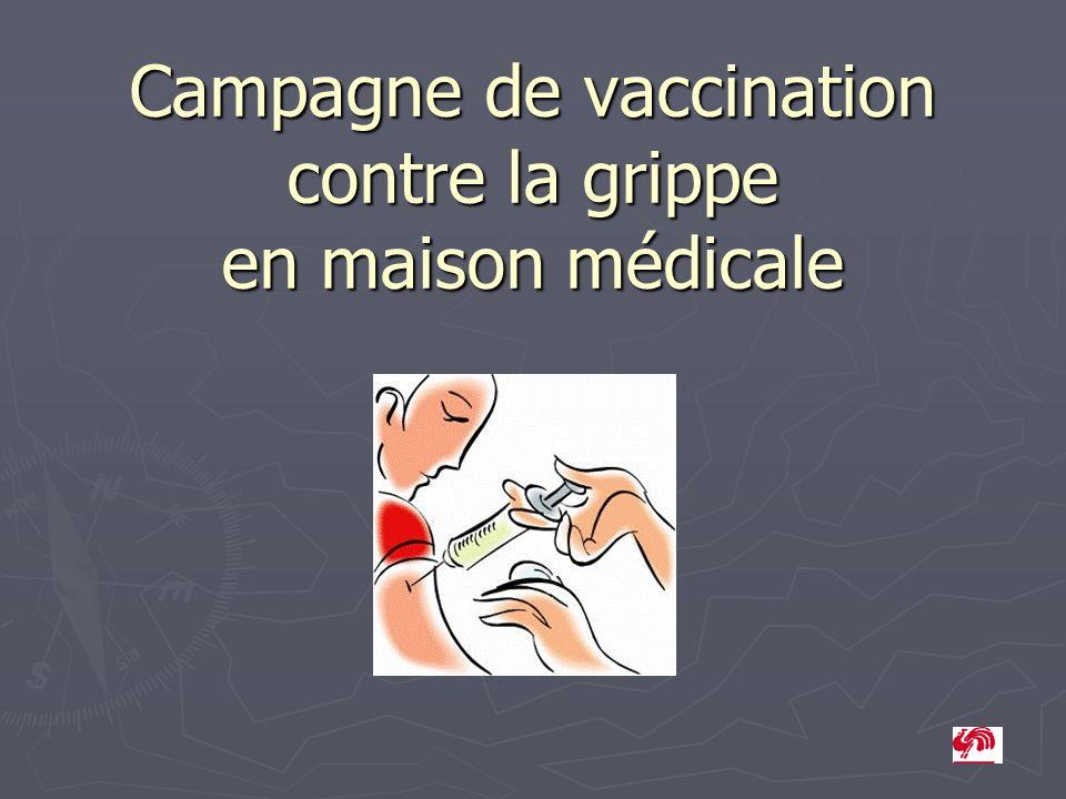 Campagne de vaccination contre la grippe en maison médicale