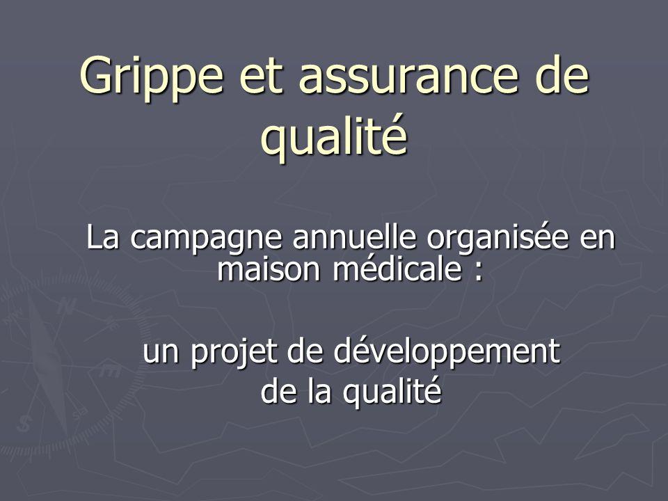 Grippe et assurance de qualité La campagne annuelle organisée en maison médicale : un projet de développement de la qualité