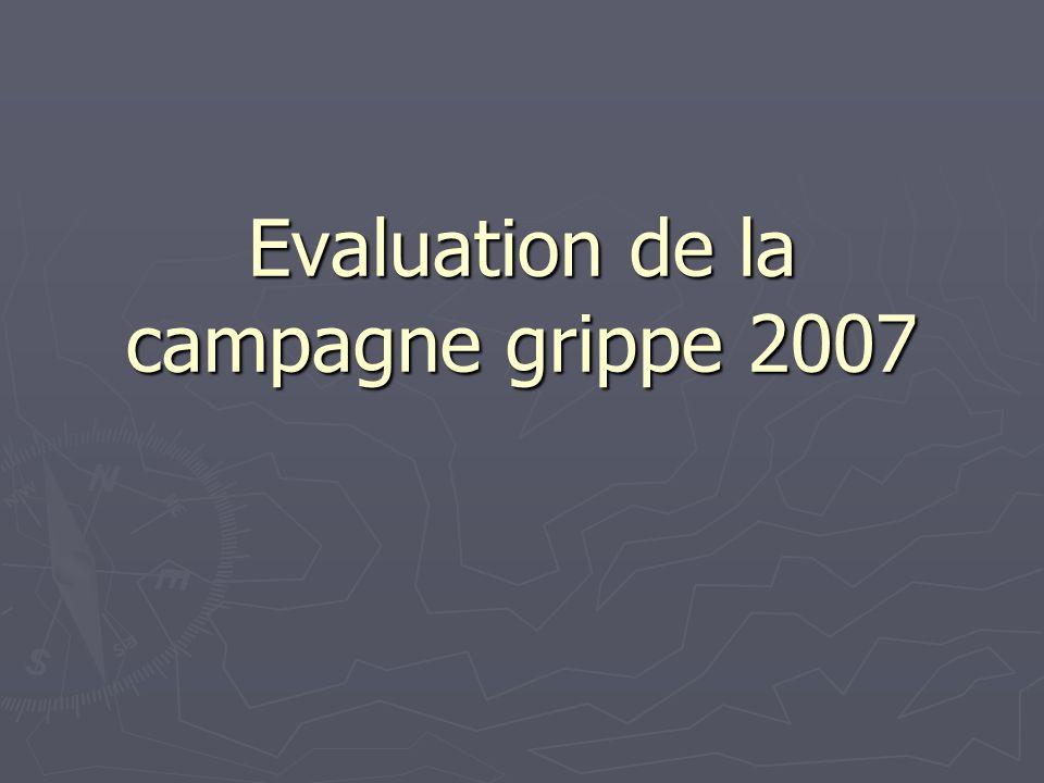 Evaluation de la campagne grippe 2007