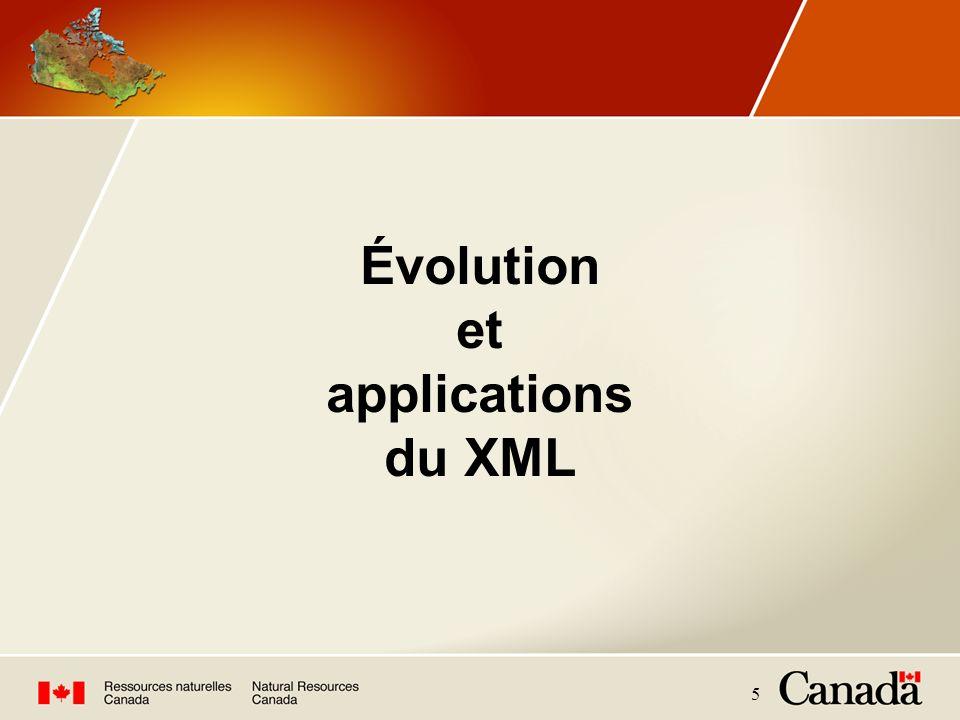 5 Évolution et applications du XML
