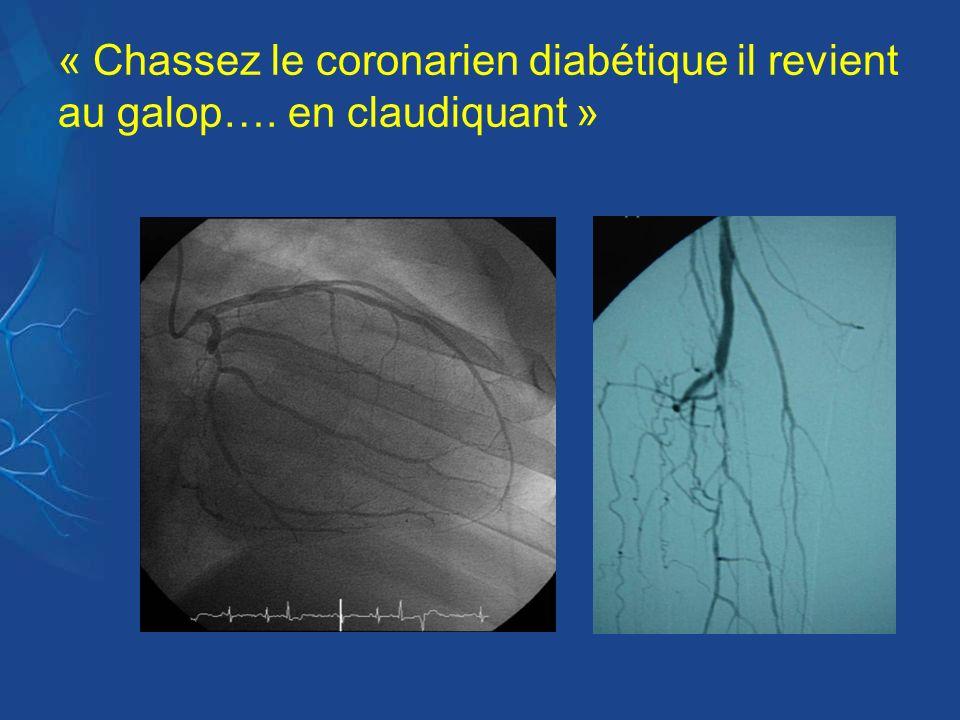 « Chassez le coronarien diabétique il revient au galop…. en claudiquant »