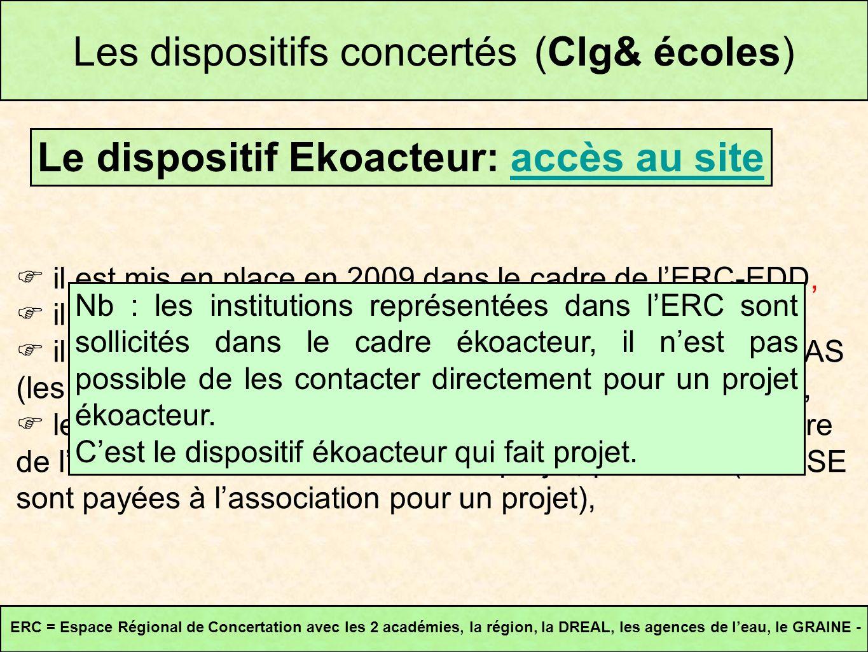 il est mis en place en 2009 dans le cadre de lERC-EDD, il concerne les écoles et les collèges, il nest pas lié à une demande de classe à PAC ou dun AS