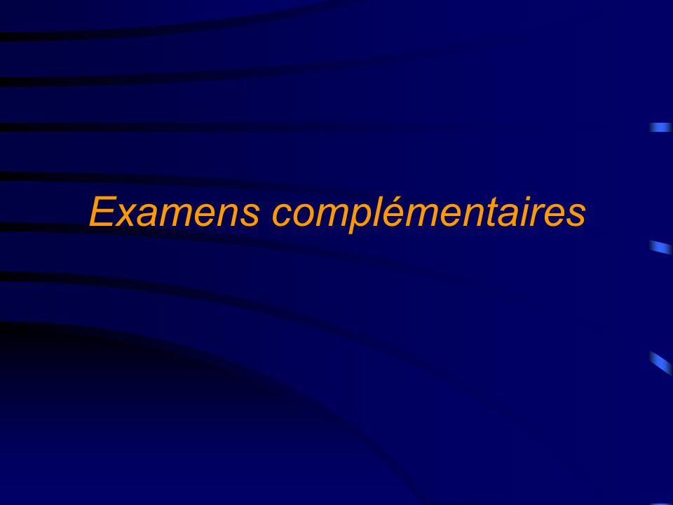 Examens biologiques A visée diagnostique : Hémocultures : 2 flacons (aérobie et anaérobie), 3/24 heures, espacées au moins d une heure, à l acmé thermique ou lors des frissons.