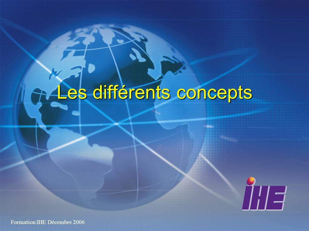 Formation IHE Décembre 2006 Les différents concepts