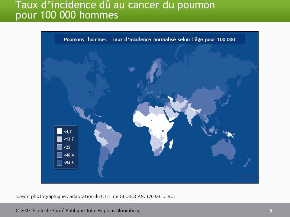 2007 École de Santé Publique John Hopkins Bloomberg 16 Points de surveillance dans le cadre de la lutte antitabac