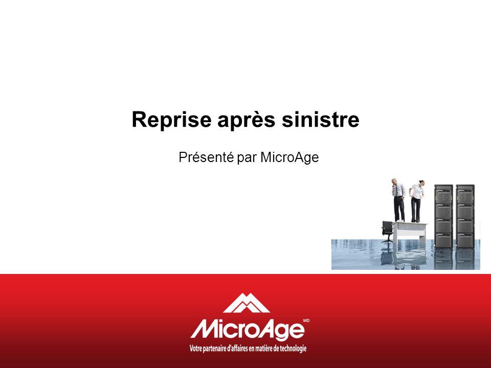 © 2006 MicroAge Programme Présentation de MicroAge –Maria Fiore Responsable du développement des affaires MicroAge Reprise après sinistre -Luc Garon Conseiller aux ventes MicroAge Questions et réponses