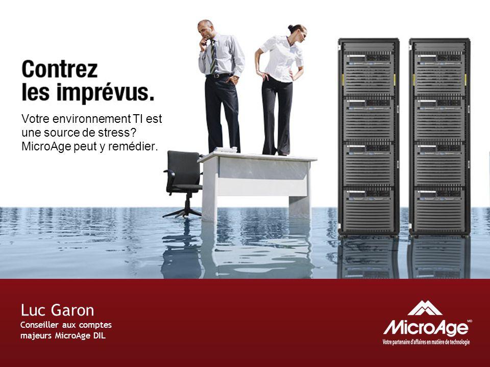 © 2006 MicroAge Votre environnement TI est une source de stress.