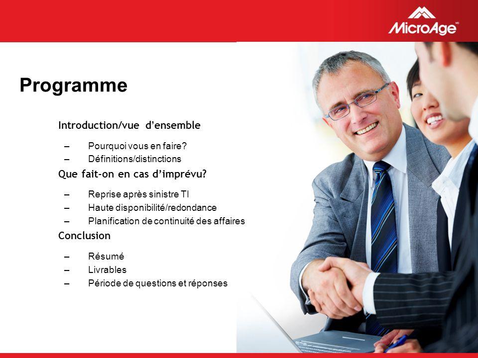 © 2006 MicroAge Deuxième solution : Haute disponibilité/redondance