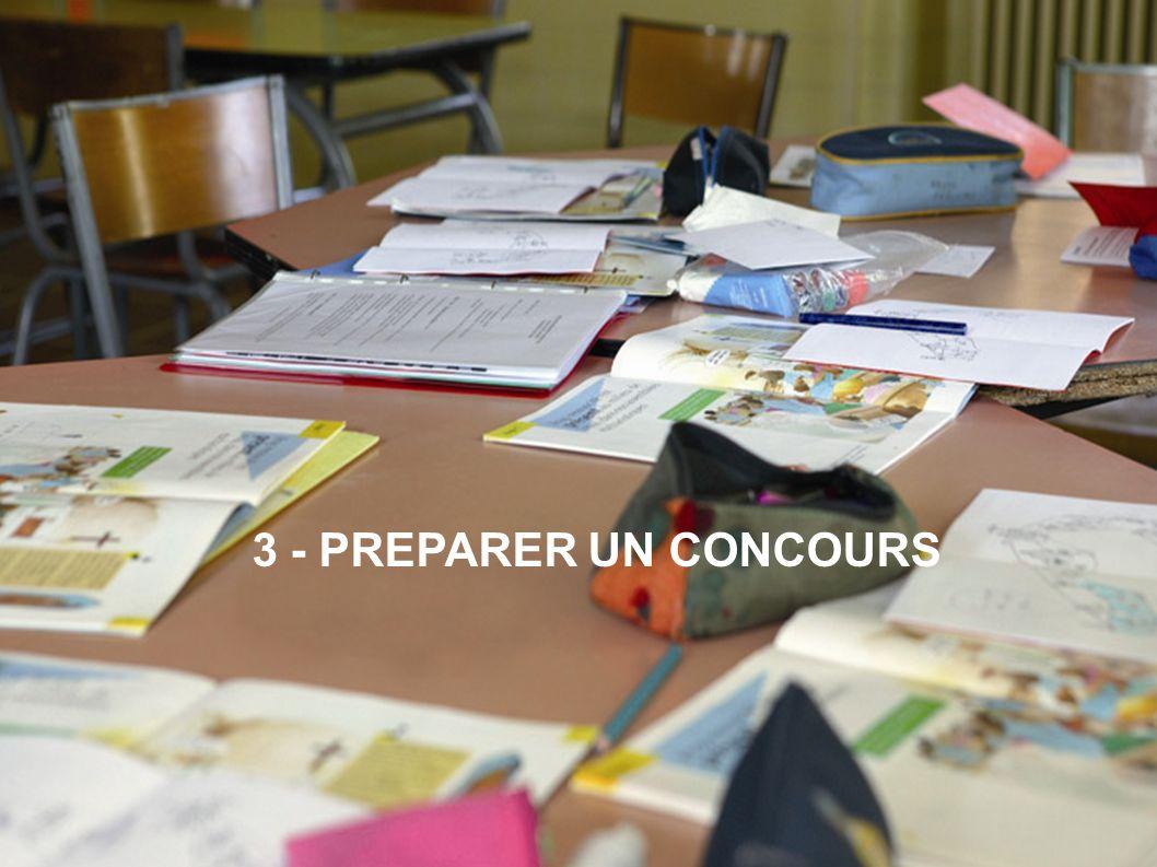 Journée de formation des COP - 07/10/10 3 - PREPARER UN CONCOURS