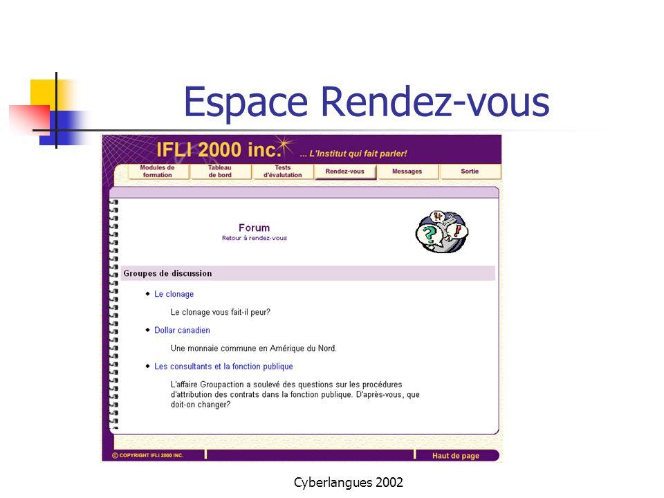 Cyberlangues 2002 Espace Rendez-vous