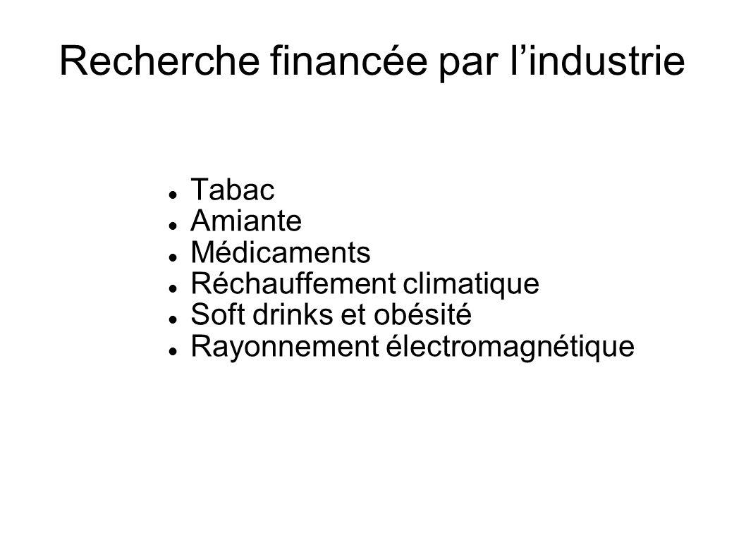 Dr Denis Zmirou Directeur scientifique de l AFSSET Démission en juin 2005 A accusé la directrice de l AFSSET de « s ingérer dans la production scientifique en suggérant telle interprétation ou présentation des faits »