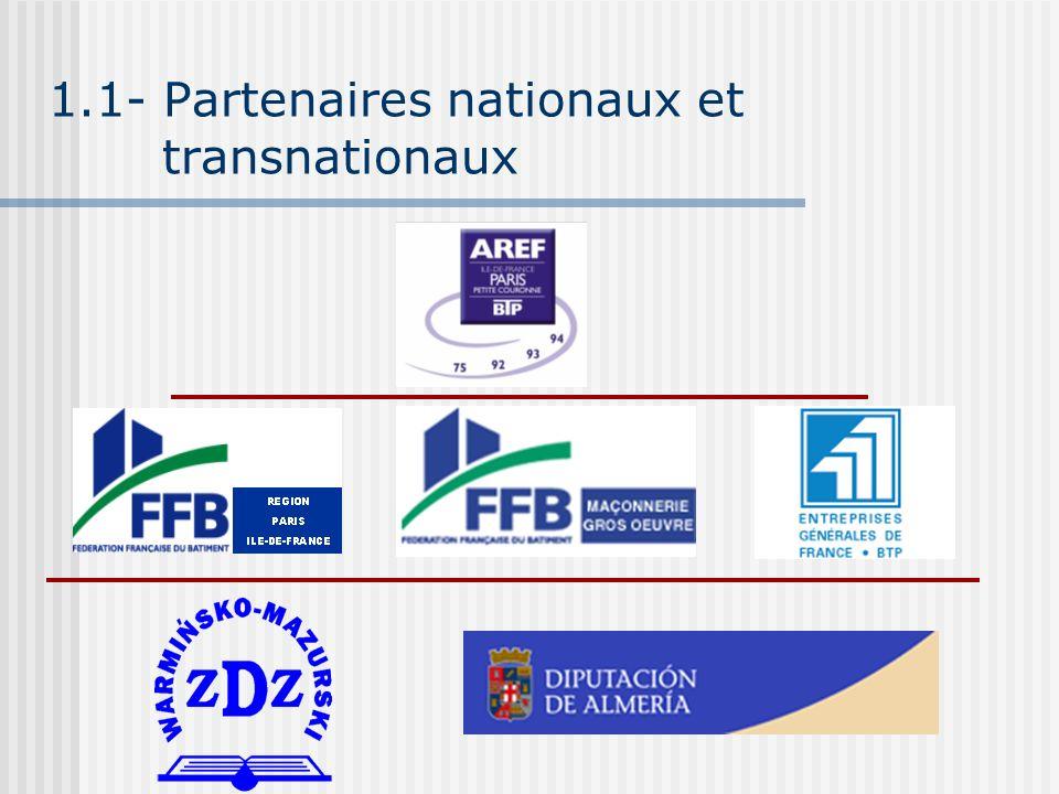 1.1- Partenaires nationaux et transnationaux