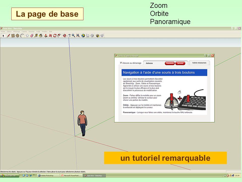 Zoom Orbite Panoramique La page de base un tutoriel remarquable