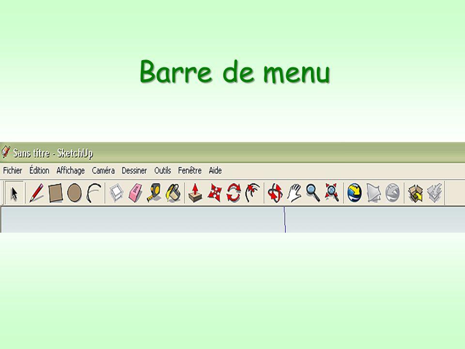 Barre de menu