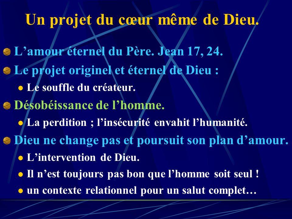 Chapitre 1 Le projet originel et éternel de Dieu. Les fondations de lEglise dans les maisons.