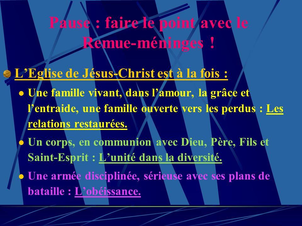 Chapitre 2 - LEglise. Un peuple nouveau dans lobéissance. Qui est Jésus-Christ pour toi ? Ladoption et lhéritage. 2) La société a besoin de ce témoign