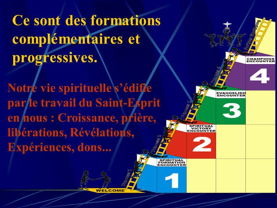 Des formations indispensables (suite) Pour servir, guérir, prier : F4 formation daide au ministère. F5 formation pour les Week-End- Rencontres et la g