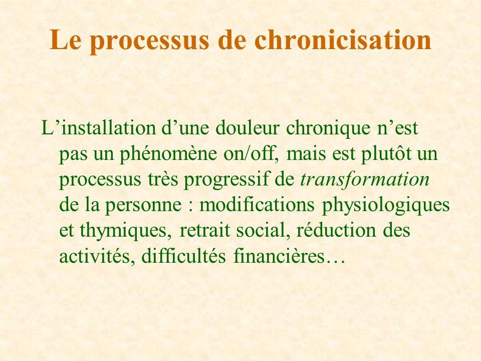Linstallation dune douleur chronique nest pas un phénomène on/off, mais est plutôt un processus très progressif de transformation de la personne : mod