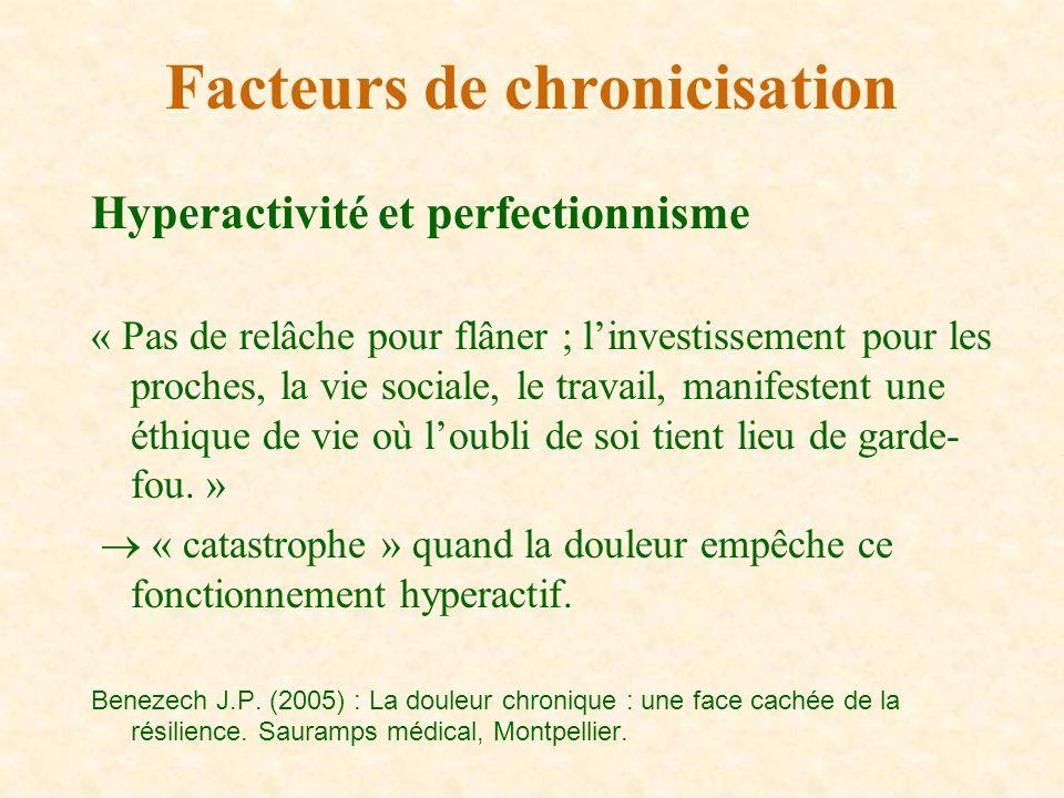 Hyperactivité et perfectionnisme « Pas de relâche pour flâner ; linvestissement pour les proches, la vie sociale, le travail, manifestent une éthique