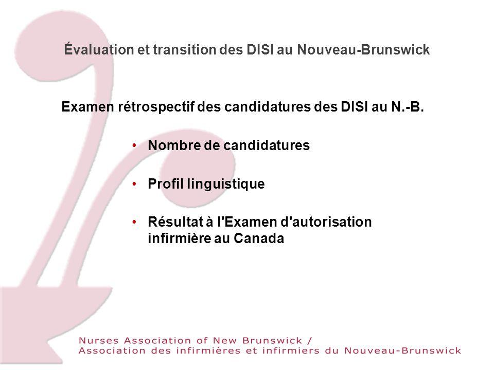 Évaluation et transition des DISI au Nouveau-Brunswick Examen rétrospectif des candidatures des DISI au N.-B.