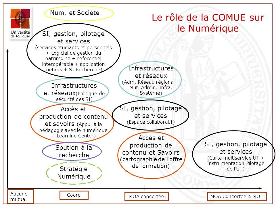 Aucune mutua. Coord Infrastructures et réseaux (Adm. Réseau régional + Mut. Admin. Infra. Système) Accès et production de contenu et savoirs (Appui à