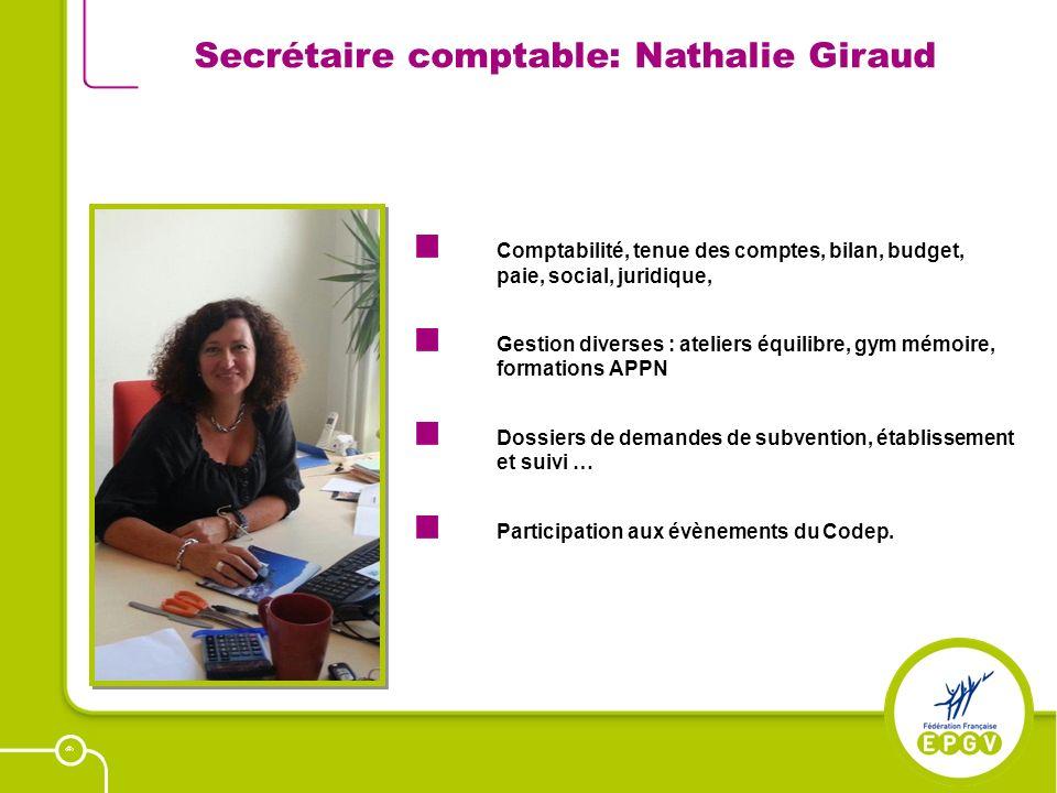 20 Secrétaire comptable: Nathalie Giraud Comptabilité, tenue des comptes, bilan, budget, paie, social, juridique, Gestion diverses : ateliers équilibr