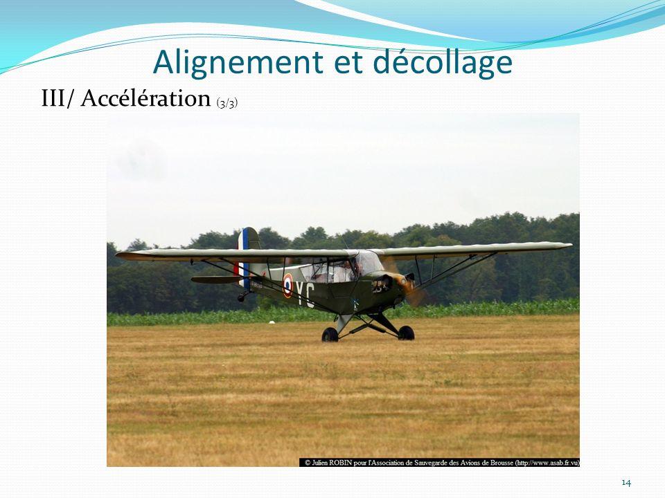 Alignement et décollage 14 III/ Accélération (3/3)