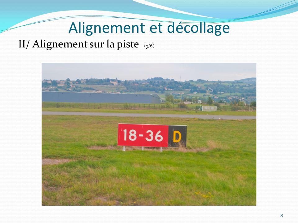Alignement et décollage Quelques définitions La distance de roulement au décollage: elle désigne la distance qui sépare lendroit du lâcher des freins de celui où les roues quittent le sol.