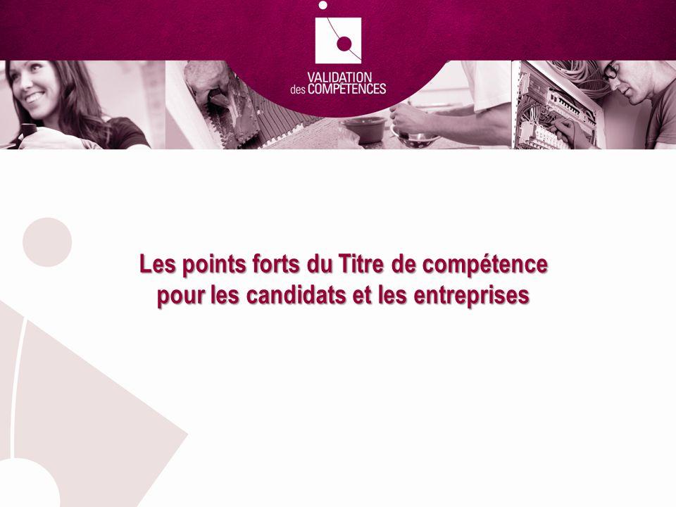 Les points forts du Titre de compétence pour les candidats et les entreprises