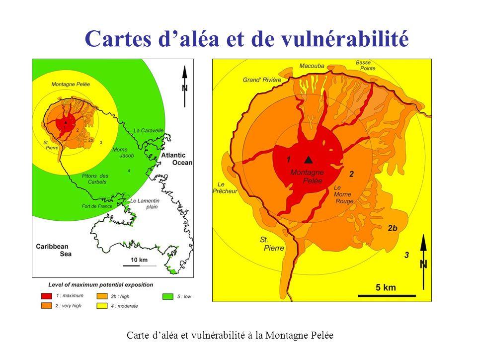Cartes daléa et de vulnérabilité Carte daléa et vulnérabilité à la Montagne Pelée