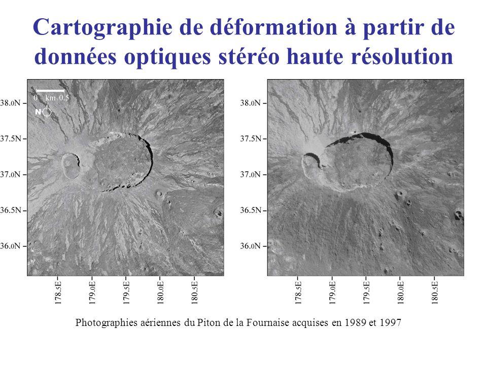 Cartographie de déformation à partir de données optiques stéréo haute résolution Photographies aériennes du Piton de la Fournaise acquises en 1989 et
