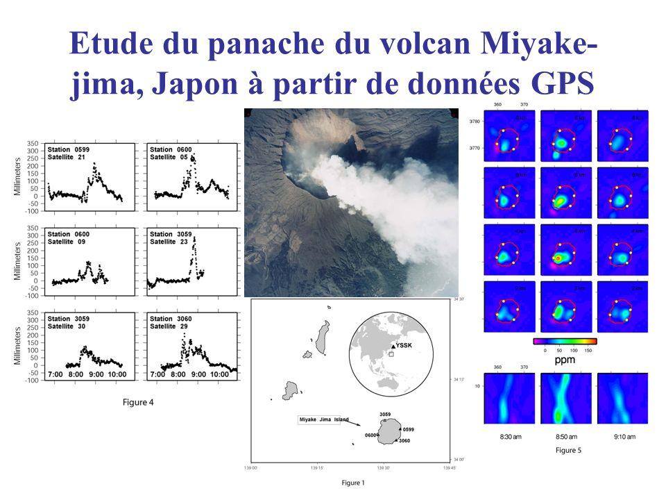 Etude du panache du volcan Miyake- jima, Japon à partir de données GPS