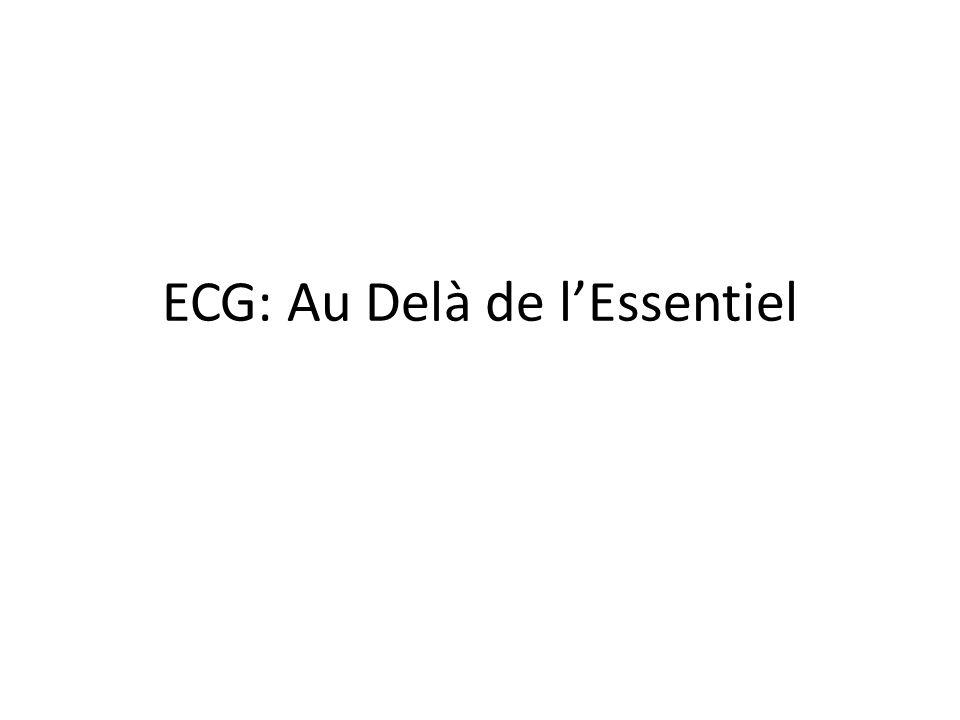 ECG: Au Delà de lEssentiel