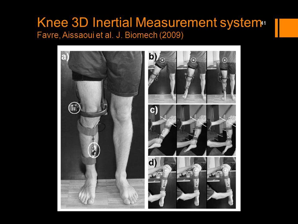 Knee 3D Inertial Measurement system Favre, Aissaoui et al. J. Biomech (2009) 41