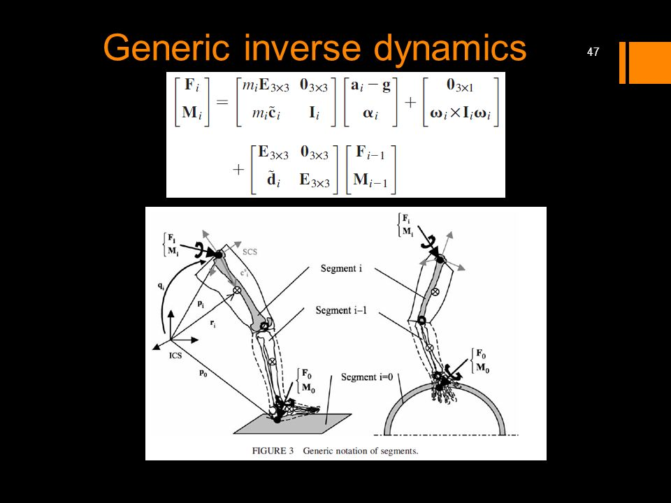 Generic inverse dynamics 47