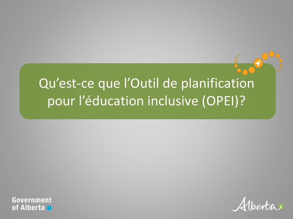 Quest-ce que lOutil de planification pour léducation inclusive (OPEI)?