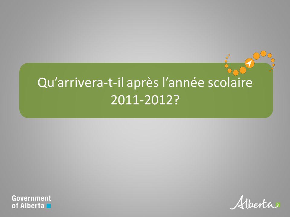 Quarrivera-t-il après lannée scolaire 2011-2012