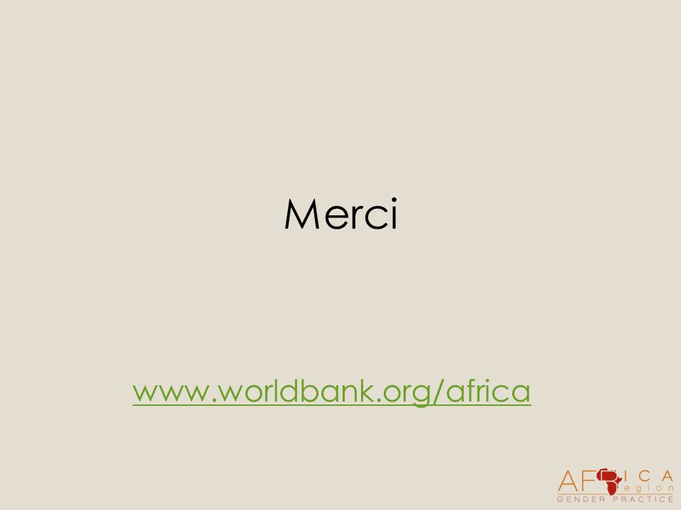 Merci www.worldbank.org/africa