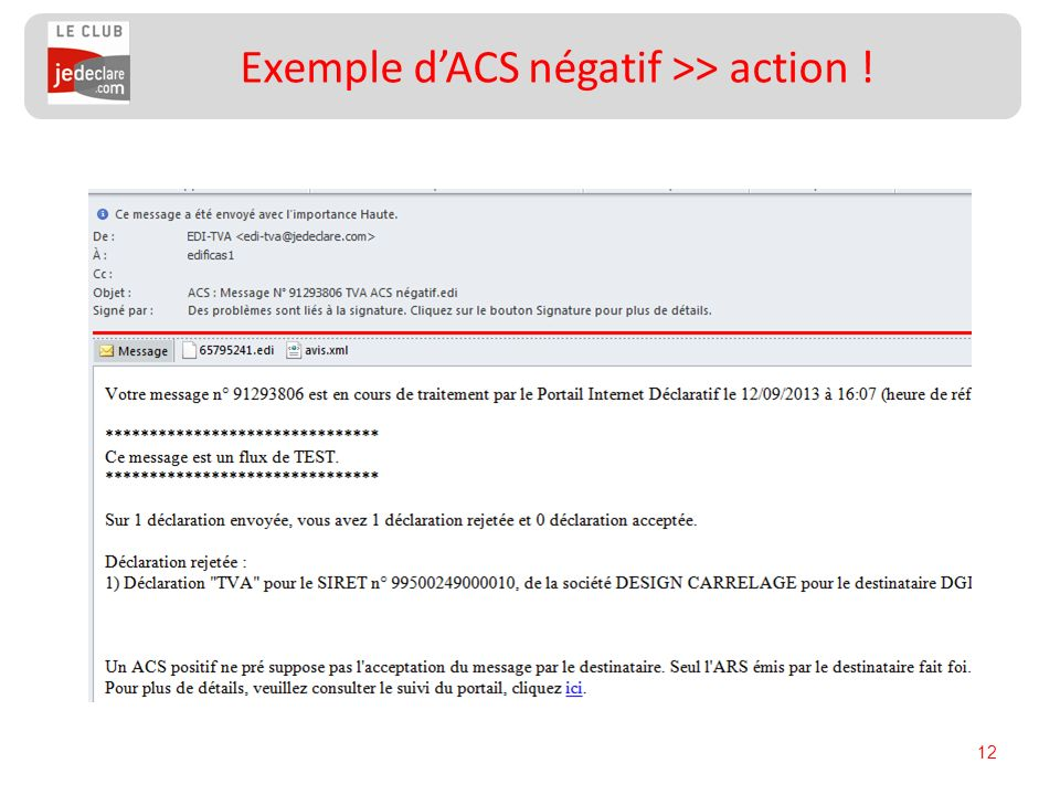 12 Exemple dACS négatif >> action !