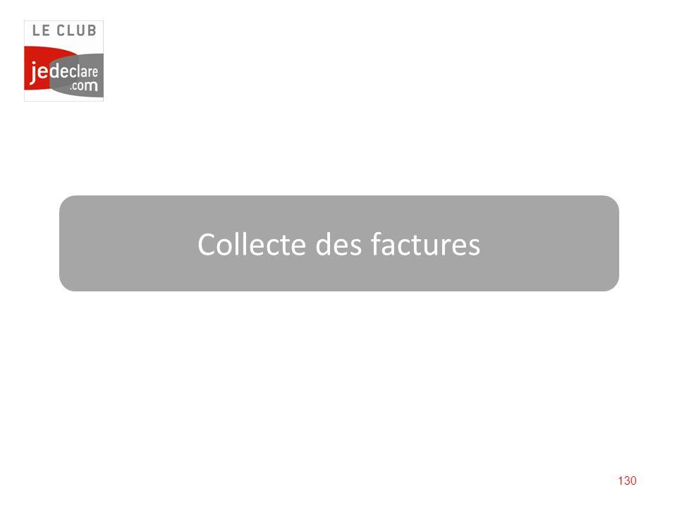 130 Collecte des factures